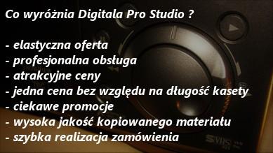 Co wyróznia Digital Pro Studio - kopiowanie kaset vhs na dvd, przegrywanie vhs na dvd cena, zgrywani